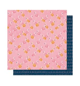 """Papel 12""""x12"""" It's all good Let's Flamingle"""