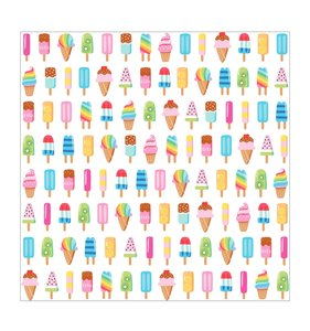 """Papel 12""""x12"""" Wild Card Popsicle"""
