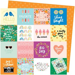 """Papel 12""""x12"""" Amy Tangerine Picnic in the park Life's a Picnic"""
