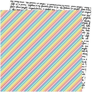"""Papel 12""""x12"""" Amy Tangerine Picnic in the park Bright Lines"""
