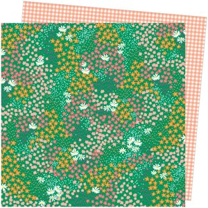"""Papel 12""""x12"""" Amy Tangerine Picnic in the park Pretty Patches"""