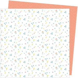 """Papel 12""""x12"""" Amy Tangerine Picnic in the park Dainty Dots"""