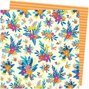 """Papel 12""""x12"""" Amy Tangerine Picnic in the park Blossom Bouquet"""
