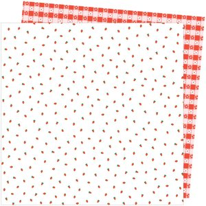 """Papel 12""""x12"""" Amy Tangerine Picnic in the park Berry Sweet"""