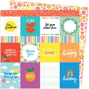 """Papel 12""""x12"""" Amy Tangerine Picnic in the park You are my happy"""