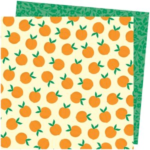 """Papel 12""""x12"""" Amy Tangerine Picnic in the park You're Peachy"""
