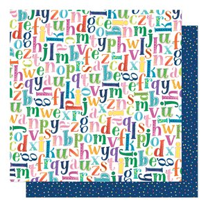 """Papel 12""""x12"""" Shimelle Never Grow Up Pick a Letter"""