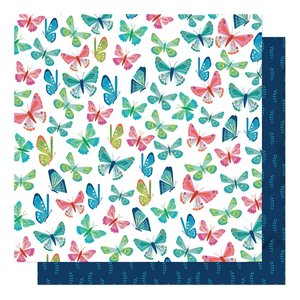 """Papel 12""""x12"""" Shimelle Never Grow Up Flutter By"""
