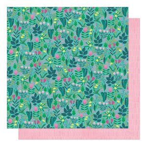 """Papel 12""""x12"""" Shimelle Never Grow Up Flower Meadow"""