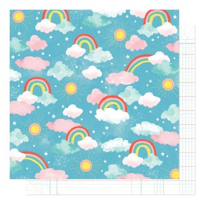 """Papel 12""""x12"""" Shimelle Never Grow Up Enchanted Sky"""