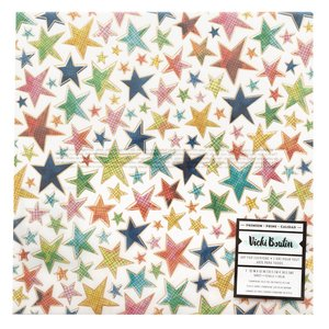 """Vellum 12""""x12"""" con foil Vicky Boutin Let's Wander"""