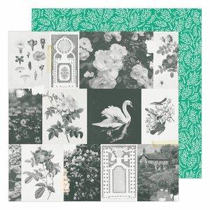 """Papel 12x12"""" Garden Party de Maggie Holmes Garden Greens"""