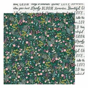 """Papel 12x12"""" Garden Party de Maggie Holmes Happy Growing"""