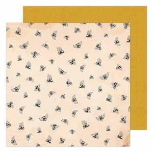 """Papel 12x12"""" Garden Party de Maggie Holmes Honey Bees"""