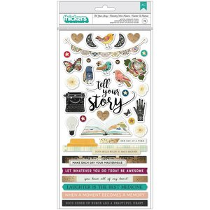 "Pegatinas de chipboard 6x12"" StoryTeller de Vicky Boutin"