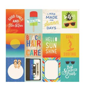 Beach Day 3x4 Journaling Cards