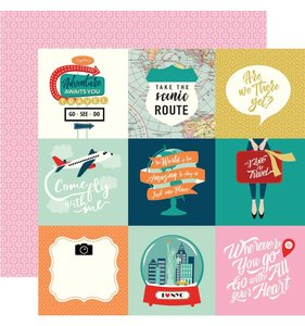 """Pack Your Bags 4""""X4"""" Journaling Cards"""