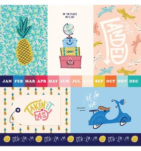 """Papel 12""""x12"""" Let's Travel 4x6 Journaling Cards"""