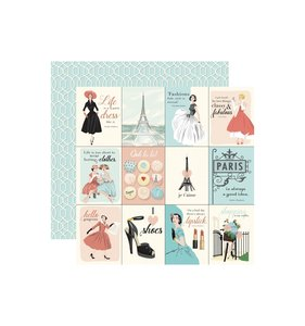 "Papel 12x12"" En Vogue 3x4 Journaling Cards"