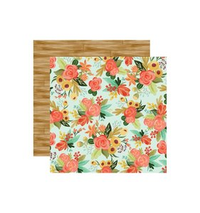 """Papel 12x12"""" Fall Market Autunm Floral"""
