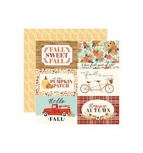 "Papel 12x12"" Fall Market 4x6 Journaling Cards"