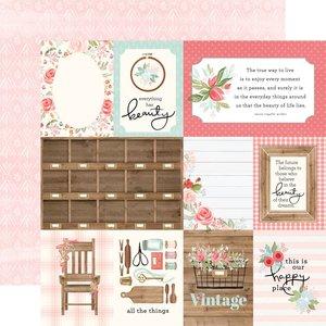 "Papel 12""x12"" Farmhouse Market 3x4 Journaling Cards"