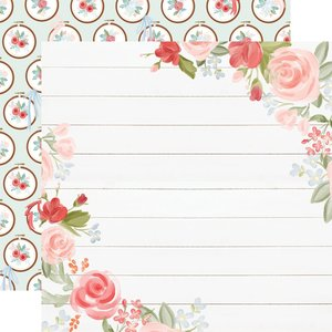 """Papel 12""""x12"""" Farmhouse Market Floral Corners"""