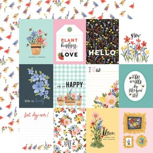 "Papel 12""x12"" Oh Happy Day 3X4 Journaling Cards"