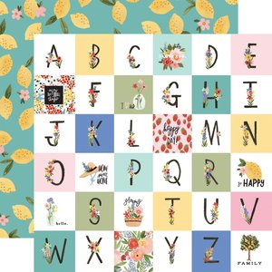 "Papel 12""x12"" Oh Happy Day Happy Alphabet"