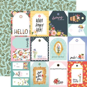 "Papel 12""x12"" Oh Happy Day Tags"