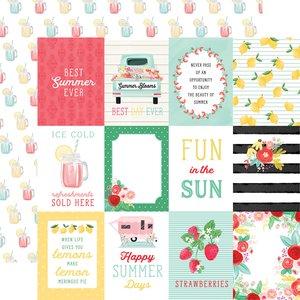 "Papel 12x12"" Summer Market 3x4 Journaling Cards"