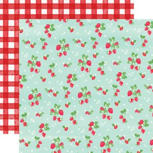 "Papel 12x12"" Summer Market Strawberries"