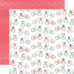 "Papel 12x12"" Summer Market Bikes"