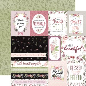 "Papel 12x12"" Flora n3 Elegant Journaling Cards"