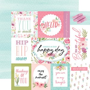 "Papel 12x12"" Flora n3 Bright Journaling Cards"