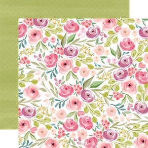 "Papel 12x12"" Flora n3 Bright Large Floral"