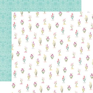 "Papel 12x12"" Flora n3 Bright Stems"