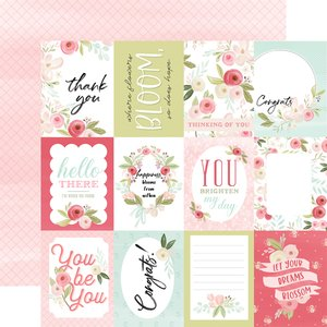 "Papel 12x12"" Flora n3 Subtle Journaling Cards"