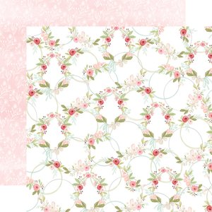 "Papel 12x12"" Flora n3 Subtle Wreaths"