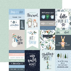 "Papel 12x12"" Winter Market 3x4 Journaling Cards"