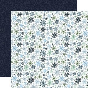 "Papel 12x12"" Winter Market Let it Snow"