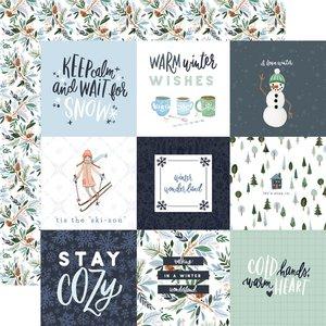 "Papel 12x12"" Winter Market 4x4 Journaling Cards"