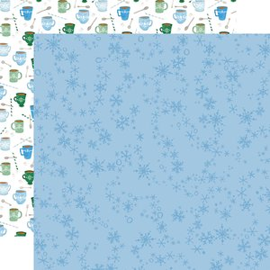 "Papel 12x12"" Winter Market Swirly Snowflakes"