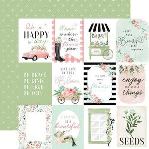 """Papel 12x12"""" Carta Bella Flower Garden 3""""X4"""" Journaling Cards"""