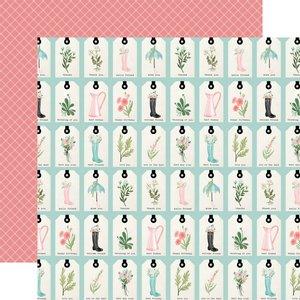 "Papel 12x12"" Carta Bella Flower Garden Love You Tags"