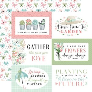 """Papel 12x12"""" Carta Bella Flower Garden 6""""X4"""" Journaling Cards"""