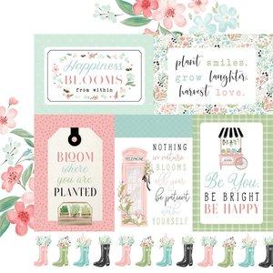 "Papel 12x12"" Carta Bella Flower Garden Multi Journaling Cards"