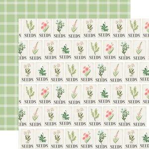 """Papel 12x12"""" Carta Bella Flower Garden Seeds"""