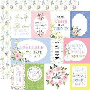 """Papel 12x12"""" Carta Bella Flora n4 Pastel Journaling Cards"""