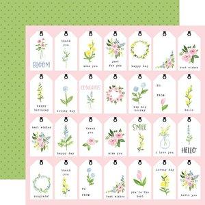 "Papel 12x12"" Carta Bella Flora n4 Pastel Tags"
